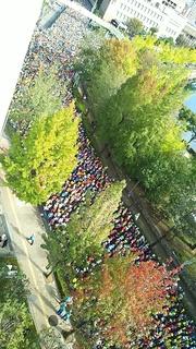 大阪マラソンスタートの様子